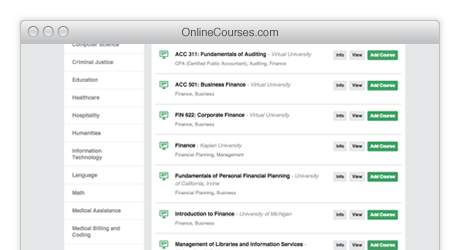 Online College Courses >> Online College Courses Classes